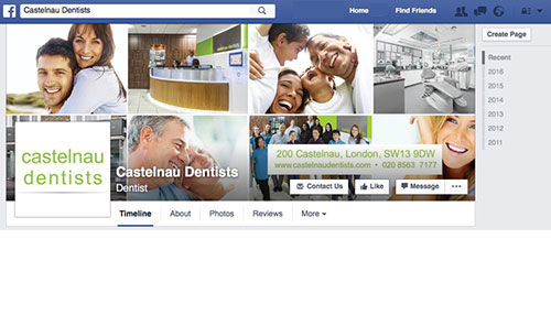 Castelnau Dentists on Facebook